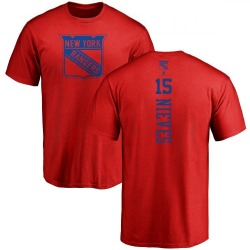 Men's Boo Nieves New York Rangers One Color Backer T-Shirt - Red