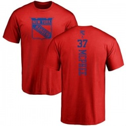 Men's George Mcphee New York Rangers One Color Backer T-Shirt - Red